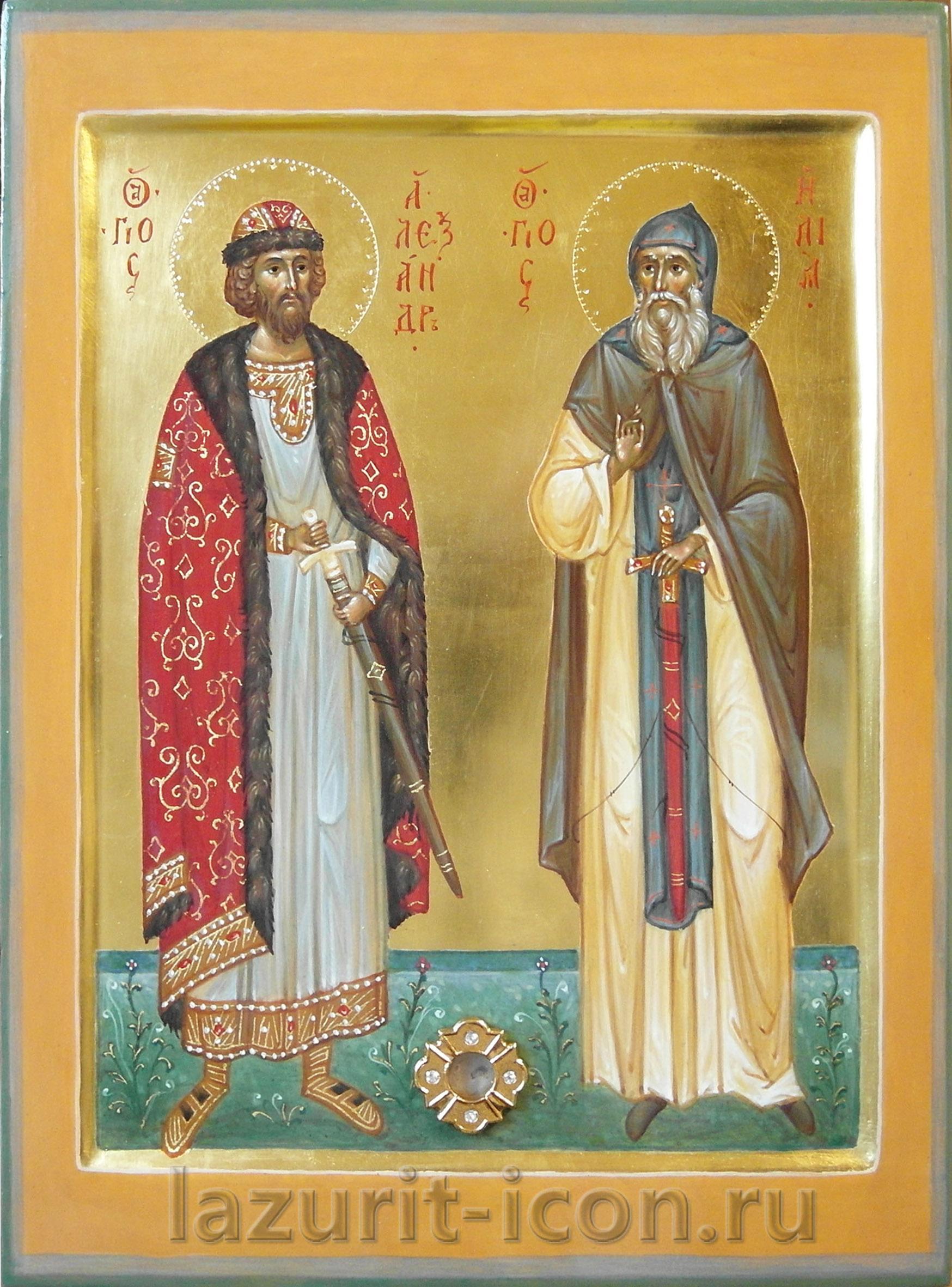 святой Александр Невский и Илья пророк
