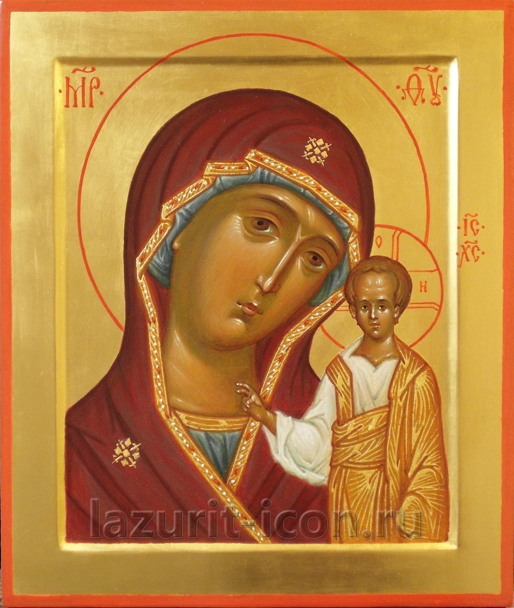 Богородица Казанская и Господь Вседержитель
