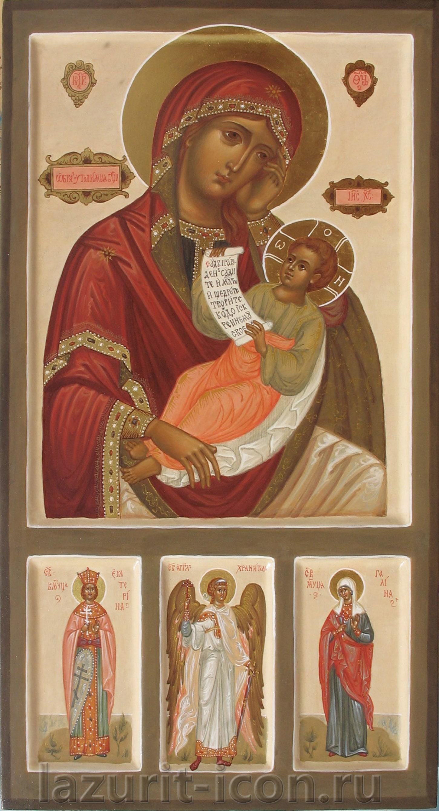 Образ Богородицы Утоли моя печали с избранными святыми