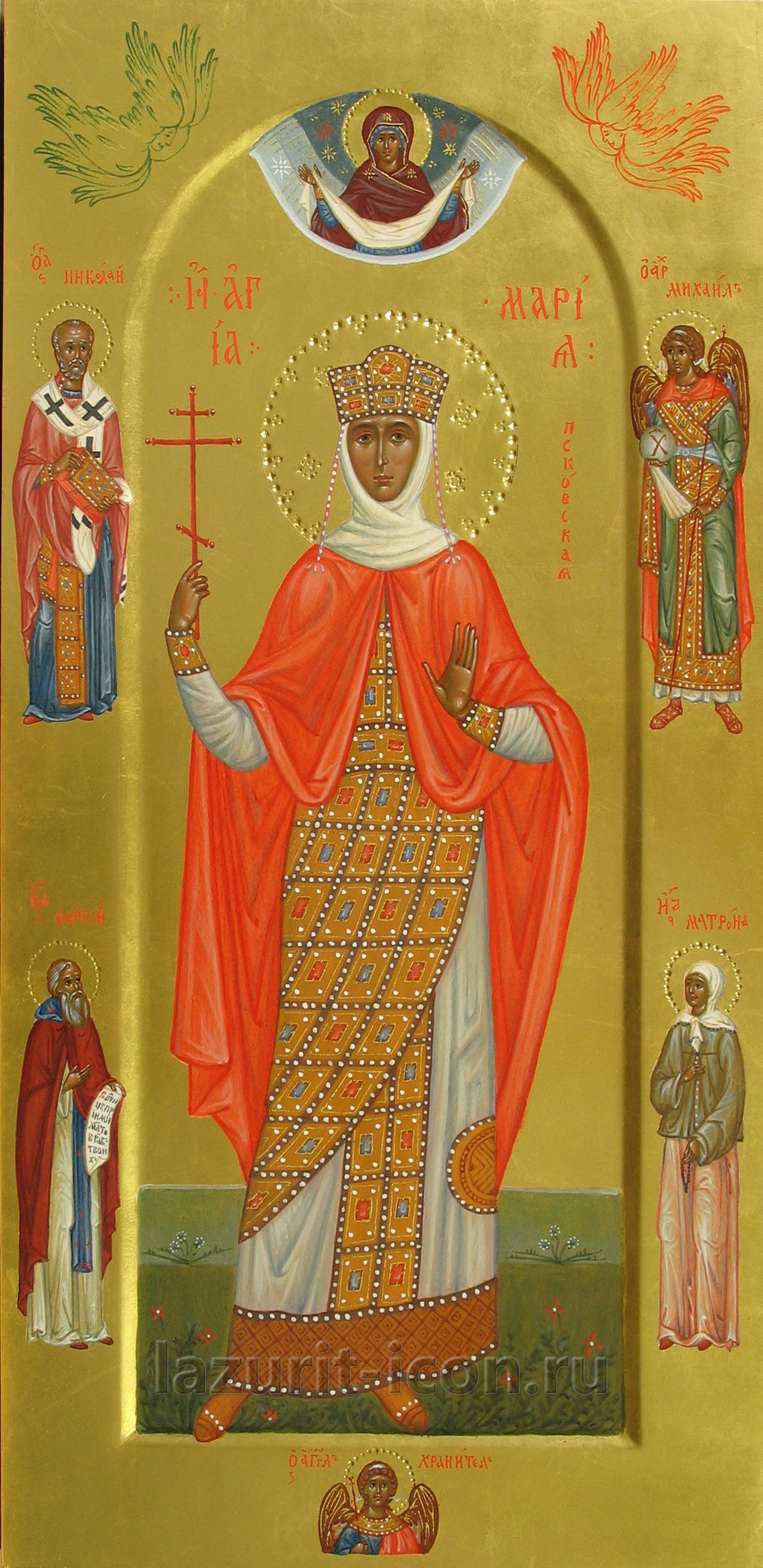 благоверная княгиня Мария Псковская с избранными святыми