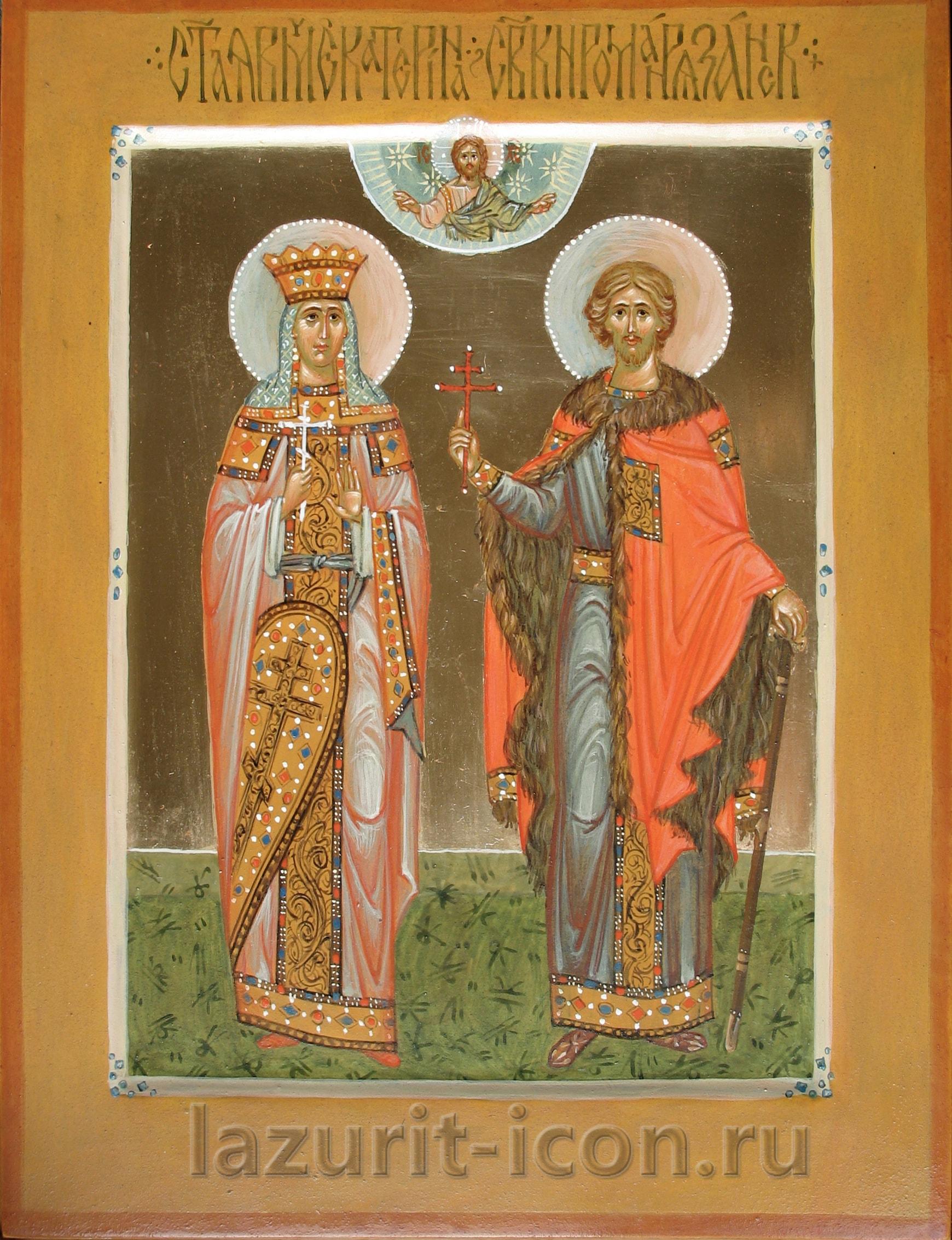 великомученица Екатерина и князь Роман Рязанский