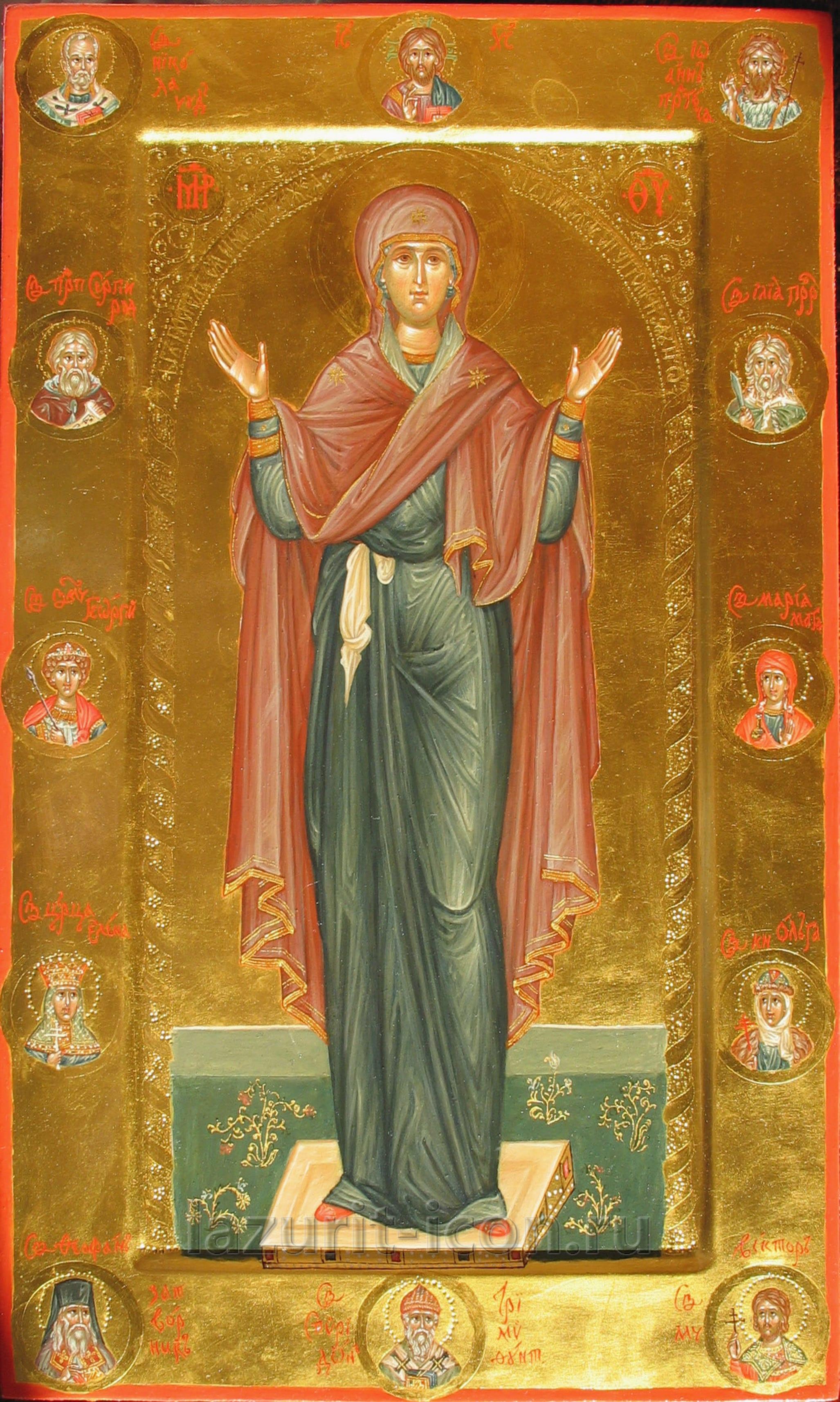 Богоматерь Оранта с избранными святыми
